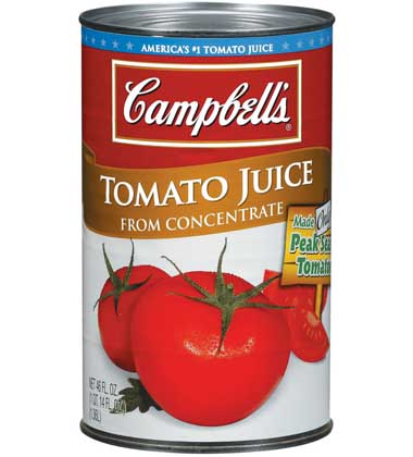 Popular Brand of Tomato Juice (in a Database-Shaped Container)