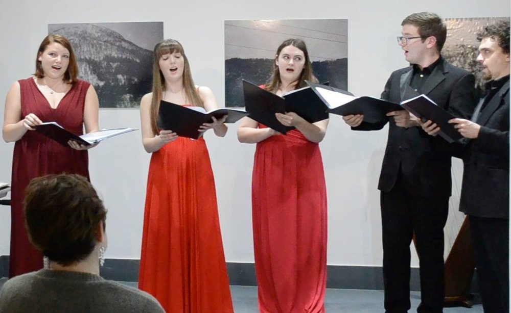 (Second from right) With the Cardiff Consort