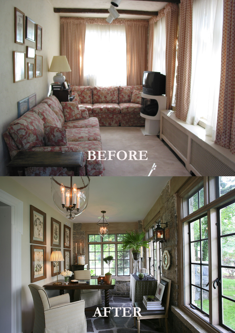 Rod Winterrowd | Before and After | Bronxville, NY | Garden Room