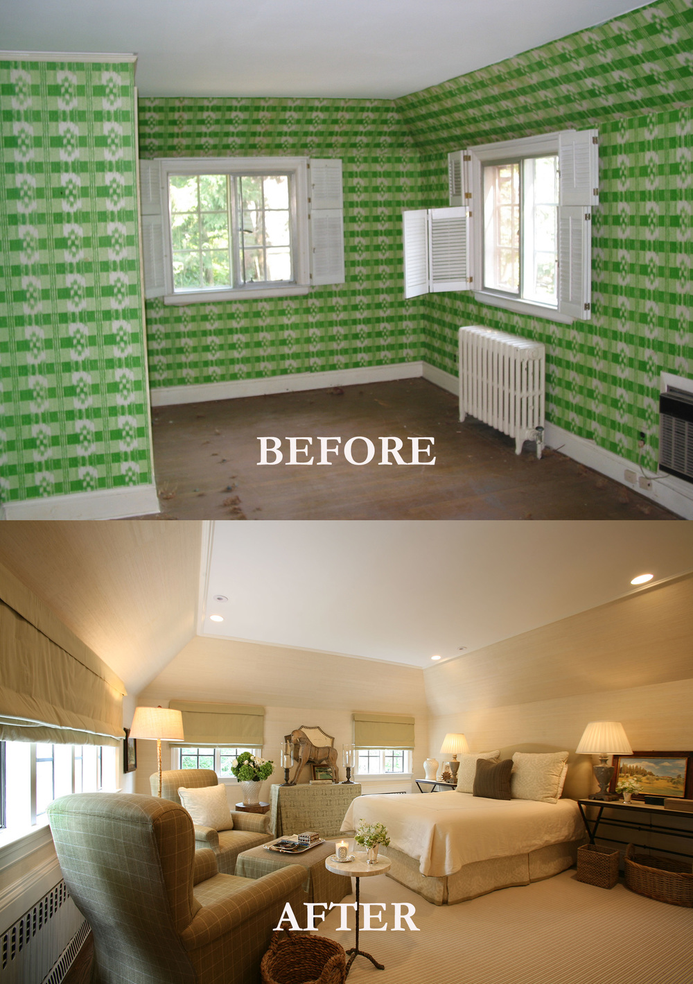 Rod Winterrowd | Before and After | Bronxville, NY | Bedroom