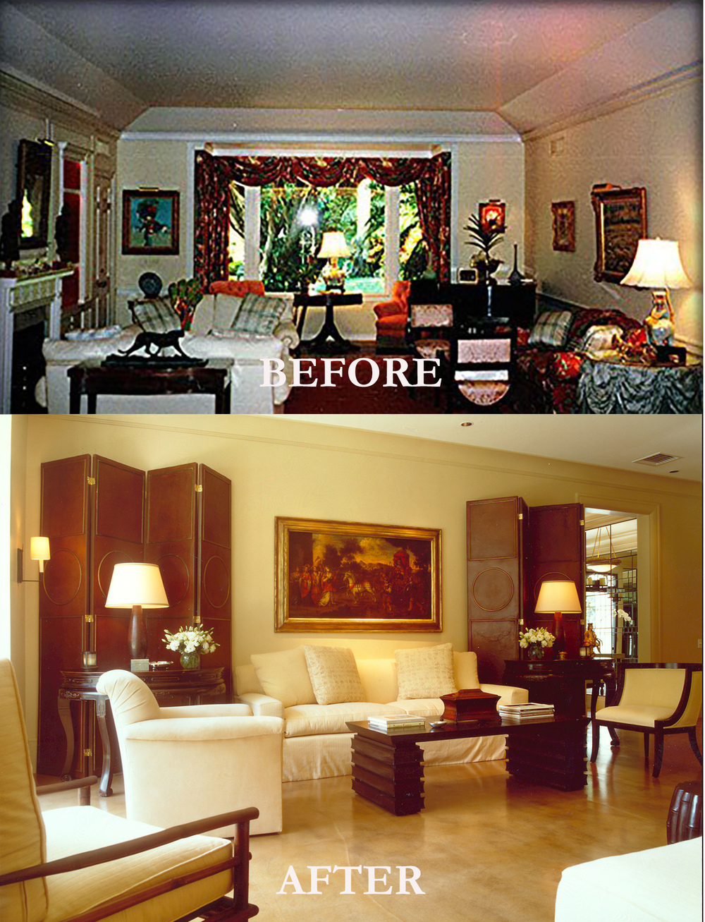 Rod Winterrowd | Before and After | Palm Beach, FL | Living Room