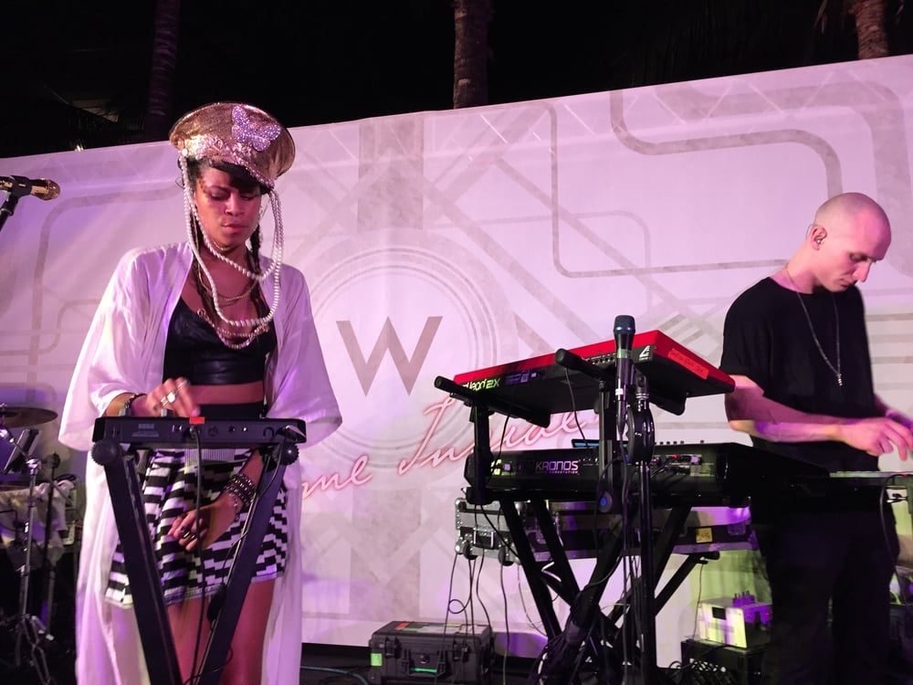 Aluna George at W Hotels  Le Miami Event