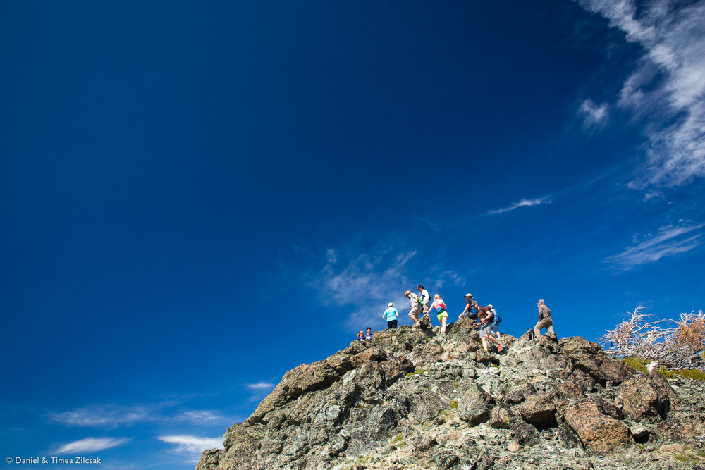 Reaching the summit of Navaho Peak