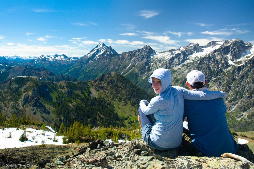 Timea and I on the summit of Navaho Peak, photo by Krisztina Szabo