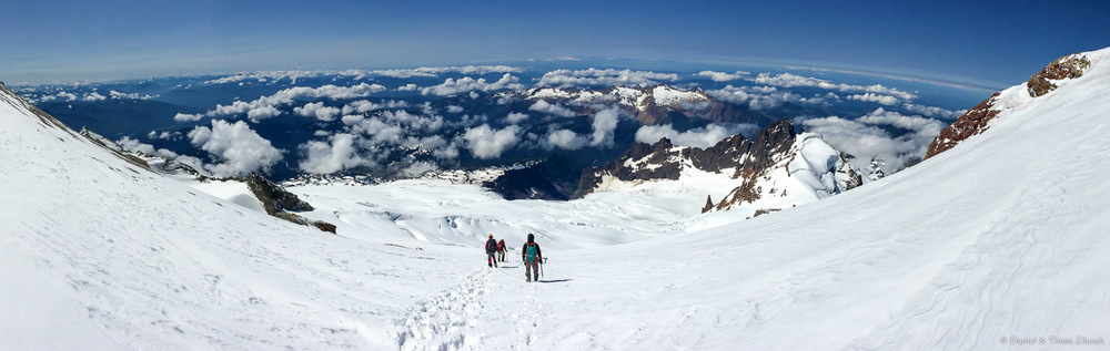 Mount Baker descent panorama