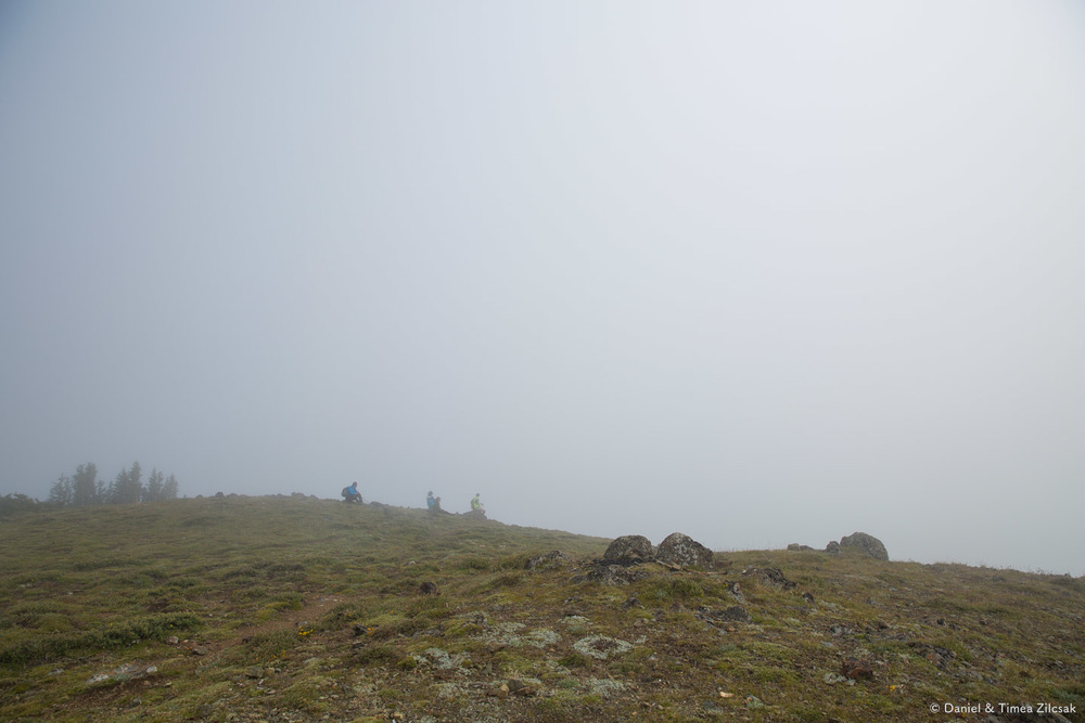 Waiting for the cloud to pass, at Marmot Pass, Olympic Peninsulla