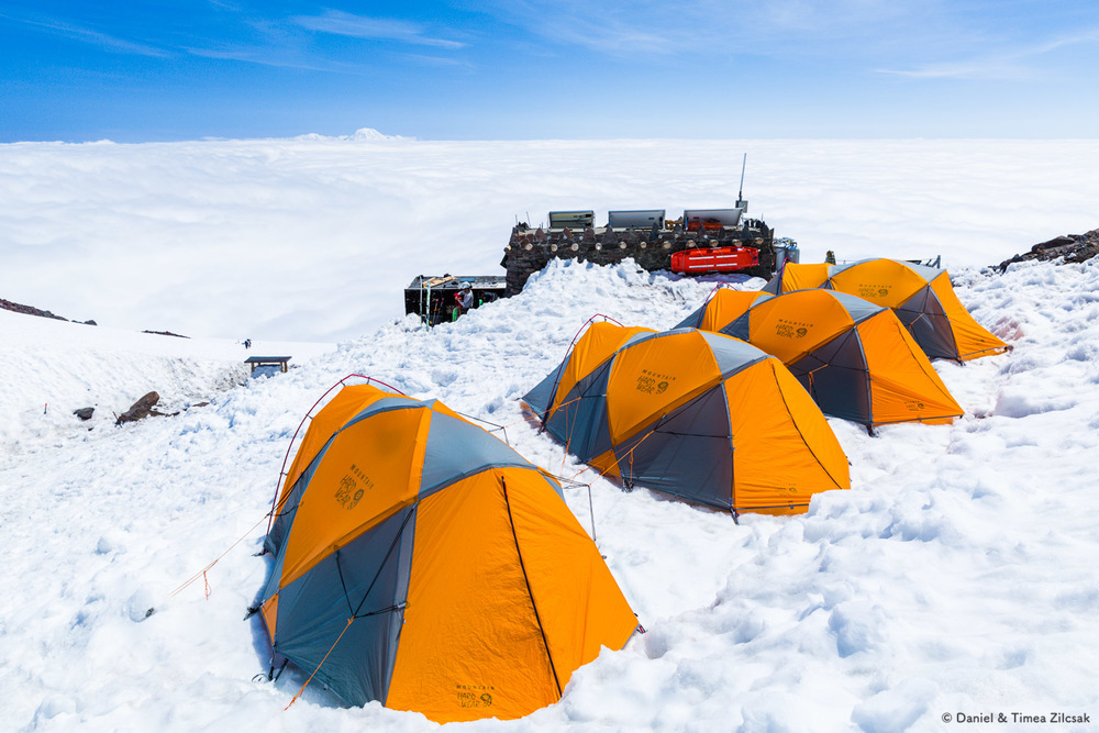 A camp with an outstanding view, Camp Muir, the Mount Rainier base camp