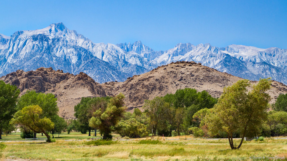 Before you even enter Death Valley, you can see Mount Whitney, the highest point in the lower 48 states, from Lone Pine, California