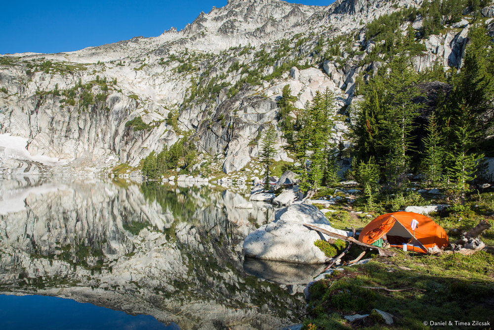 Our camp at Inspiration Lake, Core Enchantments Zone