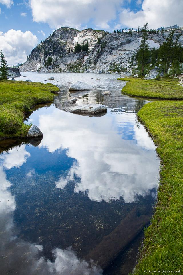 On a footbridge across an inlet into Perfection Lake, The Enchantments- 9Z4A3110 © Zilcsak.jpg
