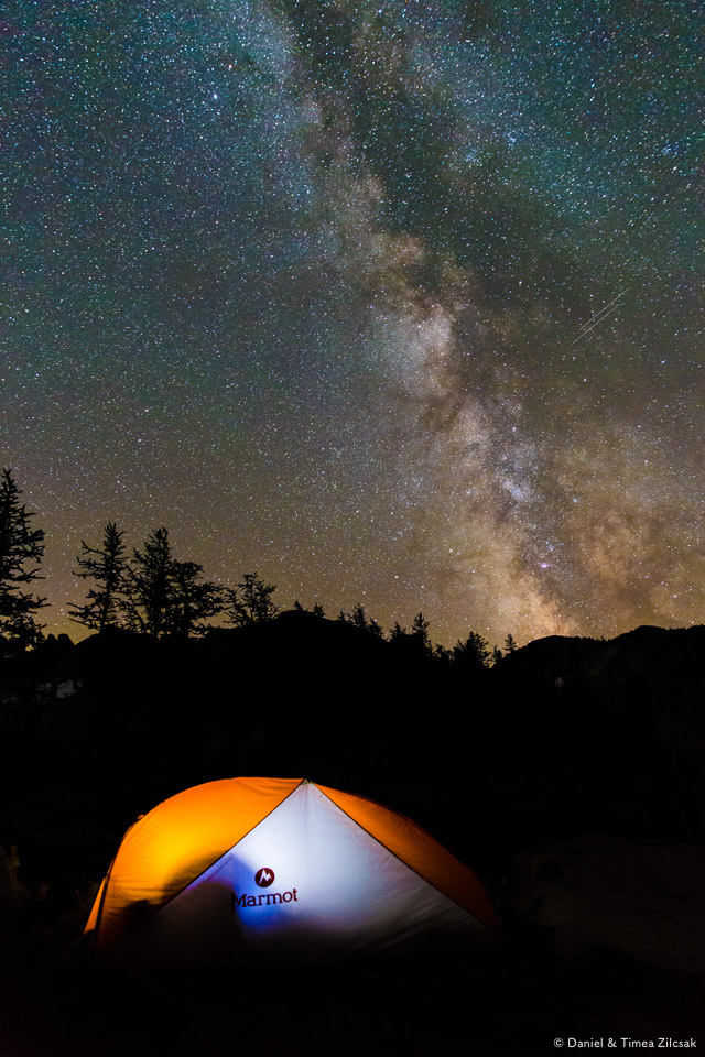 Milky Way over our tent at Inspiration Lake, The Enchantments