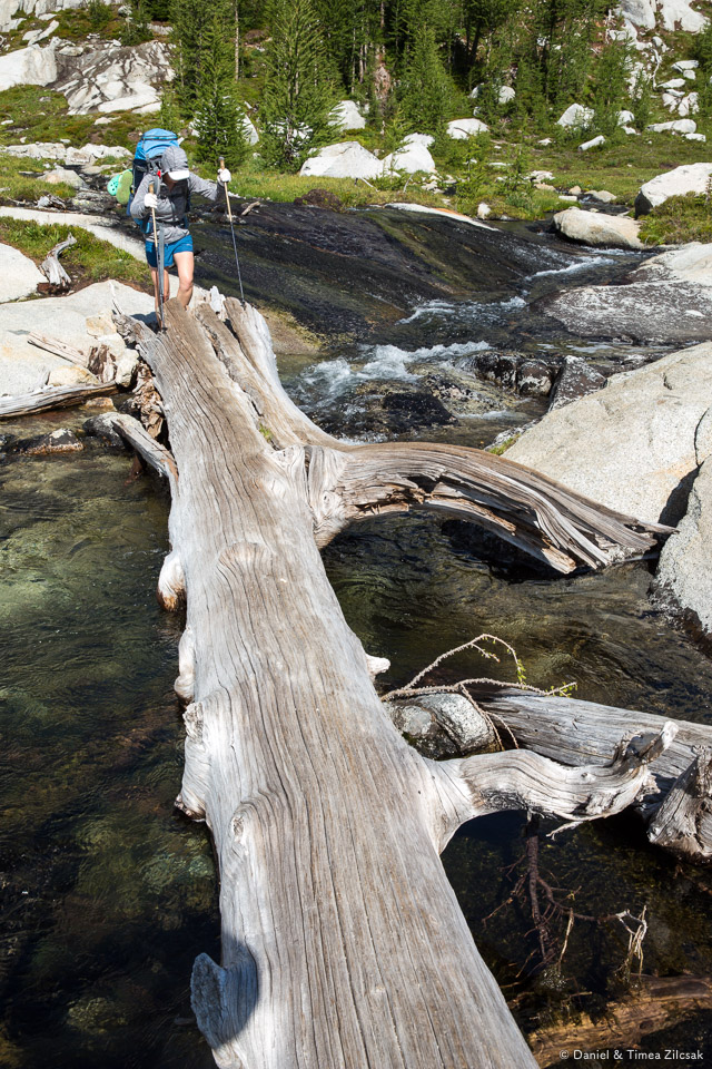 Backpacking the Enchantments, crossing downstream from Spirit Lake- 9Z4A3377 © Zilcsak.jpg