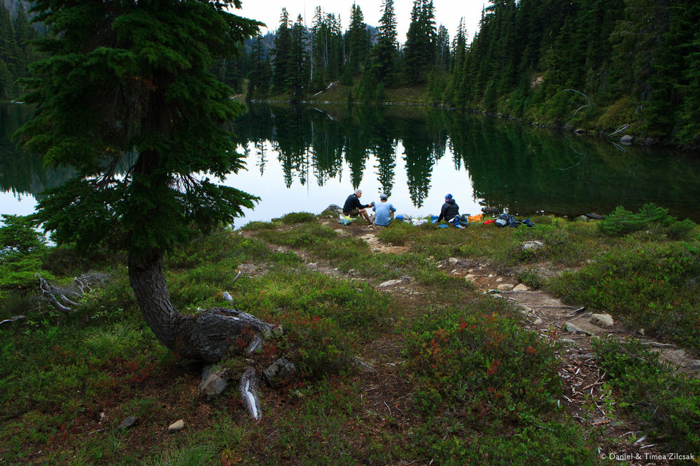 Dinner at Clear Lake, Seven Lakes Basin, Olympic National Park