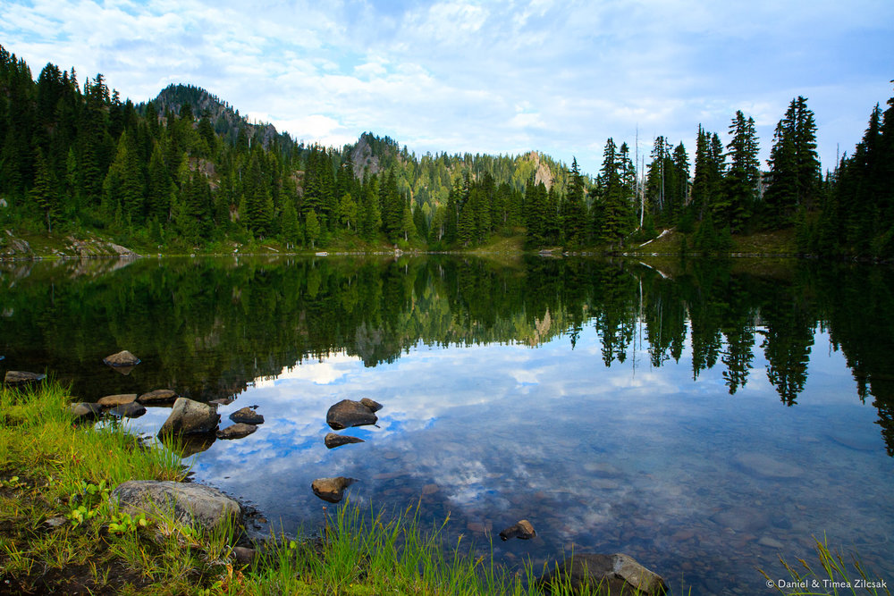 Early morning at Clear Lake, Seven Lakes Basin, Olympic National Park