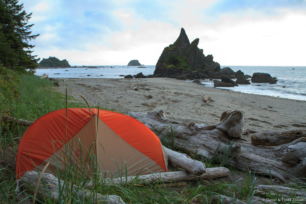 Our Camp at Toleak Point, South Coast Wilderness Trail, Olympic Peninsula