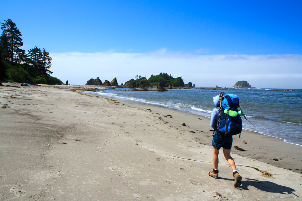 Backpacking the South Coast Wilderness Trail near Toleak Point,