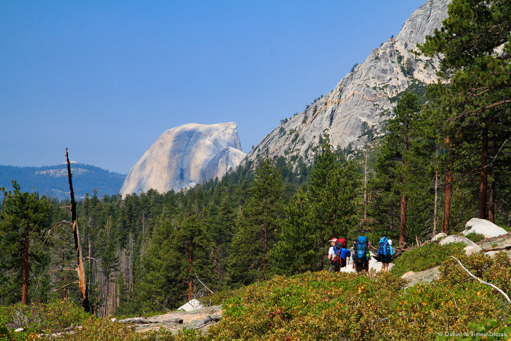 Backpacking towards Half Dome in Yosemite National Park