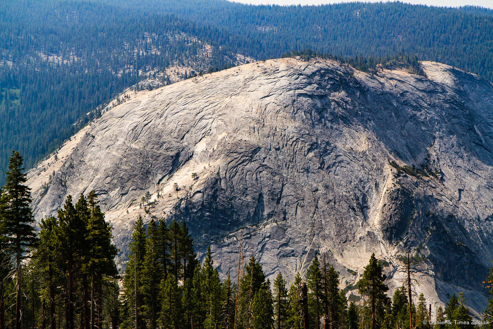 Monolithic mountain of granite in Yosemite National Park
