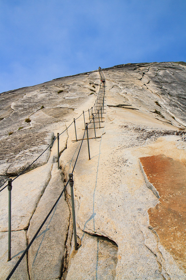 The Half Dome cables up close