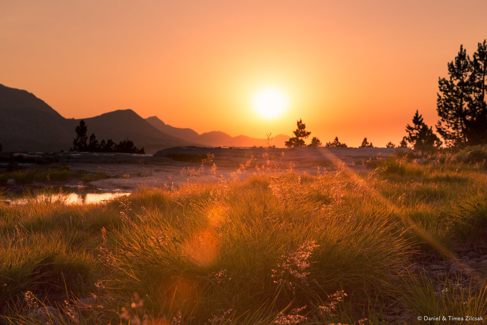 Sunset at Evolution Lake, John Muir Trail - View all images on our gallery page