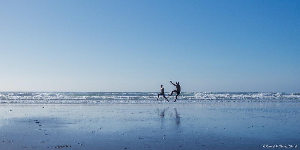 Having fun at Shi Shi Beach