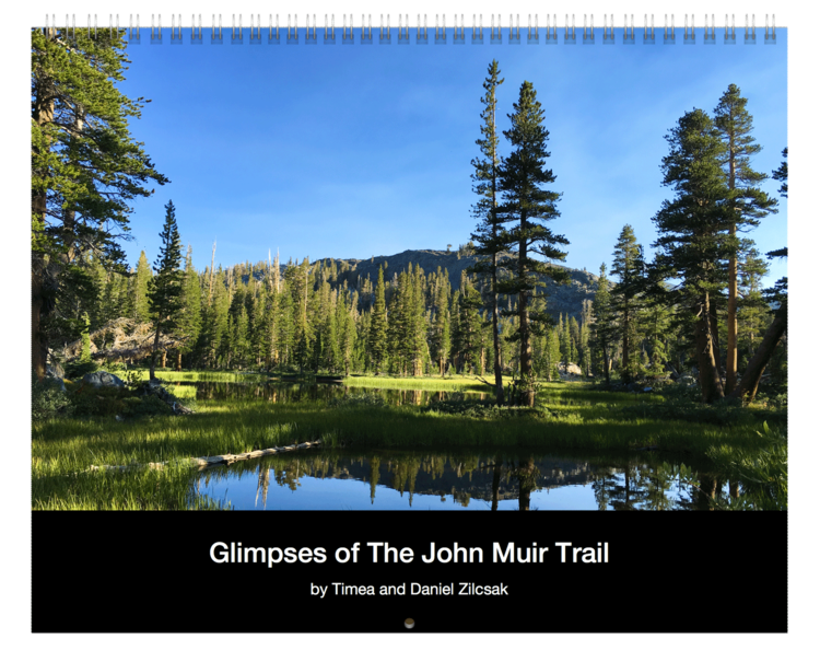 glipmses of the jphn muir trail 2017 calendar