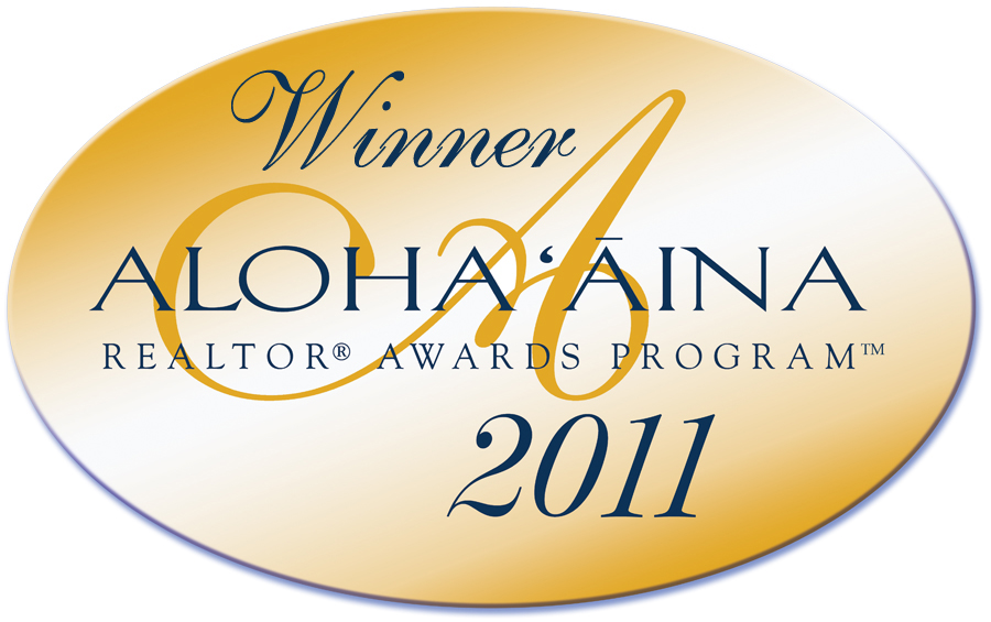 "YVONNE AHEARN: WINNER of 2011 AlOHA AINA ""PEOPLE's CHOICE"" AWARD FOR OAHU"
