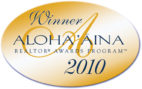 "YVONNE AHEARN: WINNER of 2010 AlOHA AINA ""PEOPLE's CHOICE"" AWARD FOR OAHU"