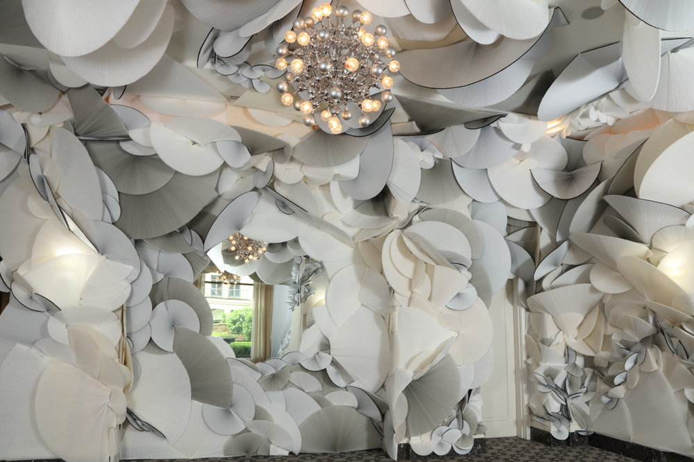 Grey Area (Bower of Bliss),  2018  Multi-sensory Installation  1000sqft  Taipen, Mandarin Oriental Hotel, Atlanta, GA