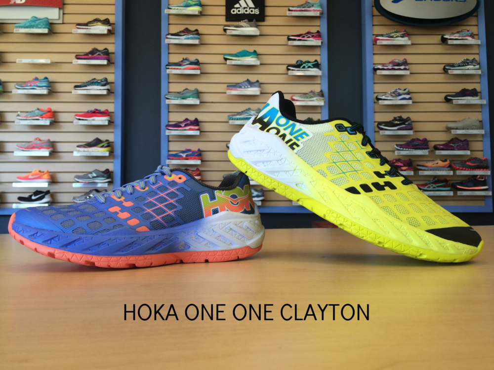 The new women's (left) and men's (right) Hoka One One Clayton