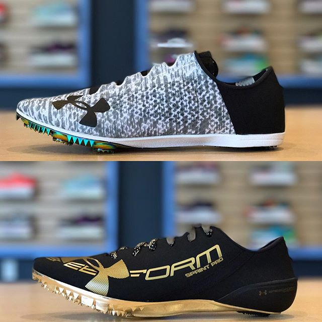 BIG news! @underarmour track spikes are now at Future Track! Check out the new Speedform Miler Pro and Speedform Sprint Pro today!  #futuretrack #underarmour #speedformsprintpro #speedformmilerpro #trackspikes