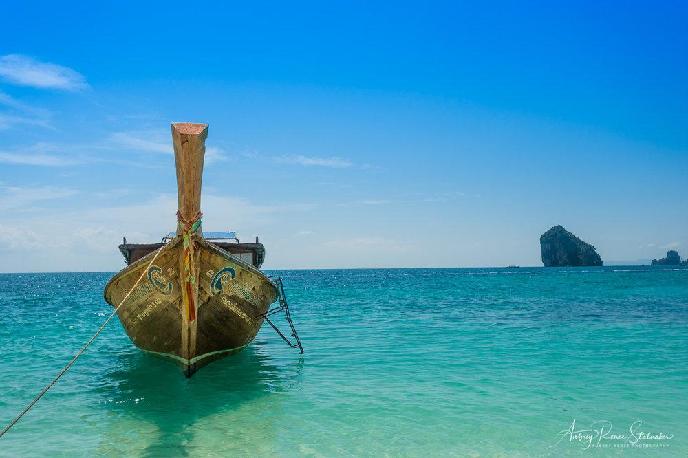 Longtail boat near Krabi Thailand