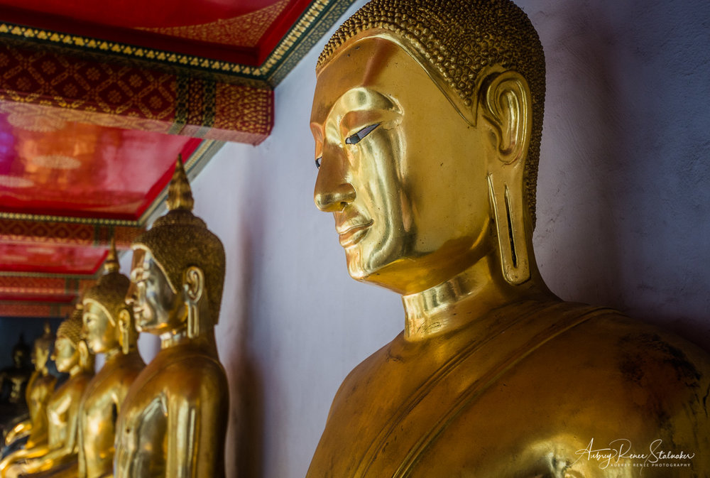 Golden Buddha Image in Wat Pho, Bangkok, Thailand