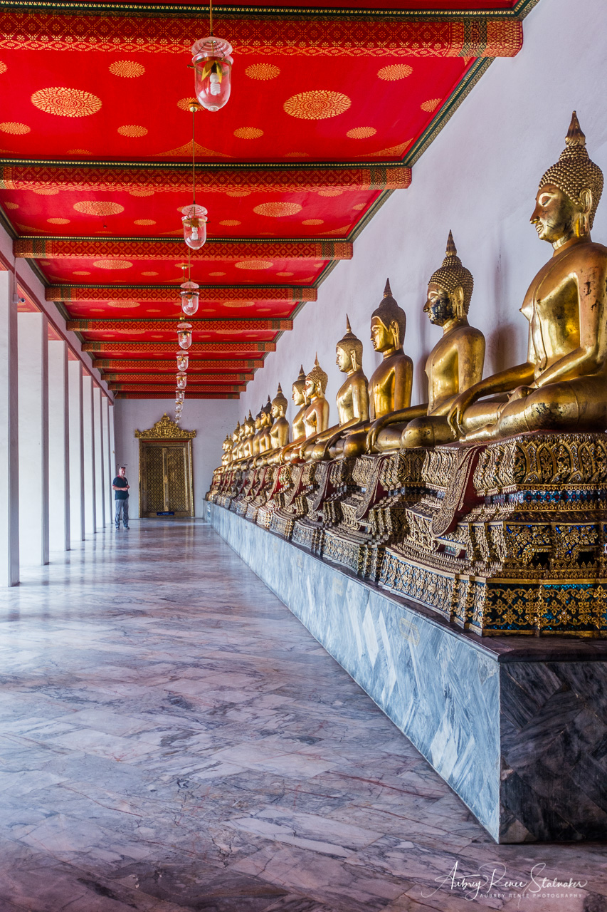 Hall of Buddha Images in Wat Pho, Bangkok, Thailand