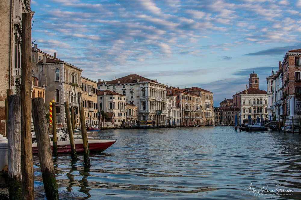 Grand Canal of Venice, Italy just after Sunrise