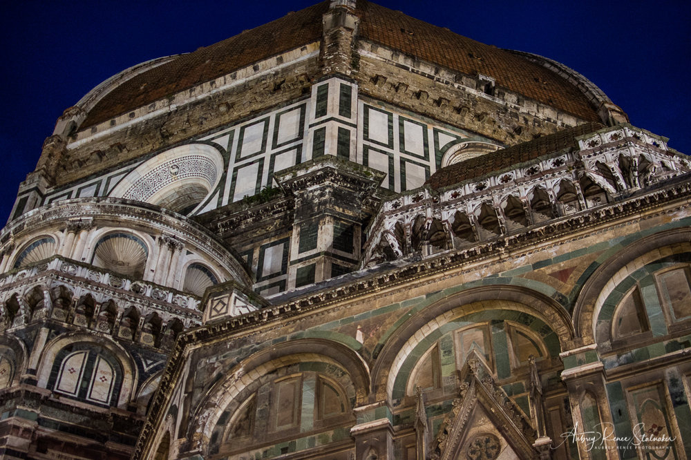 The Duomo of Florence, Italy as Seen at Night