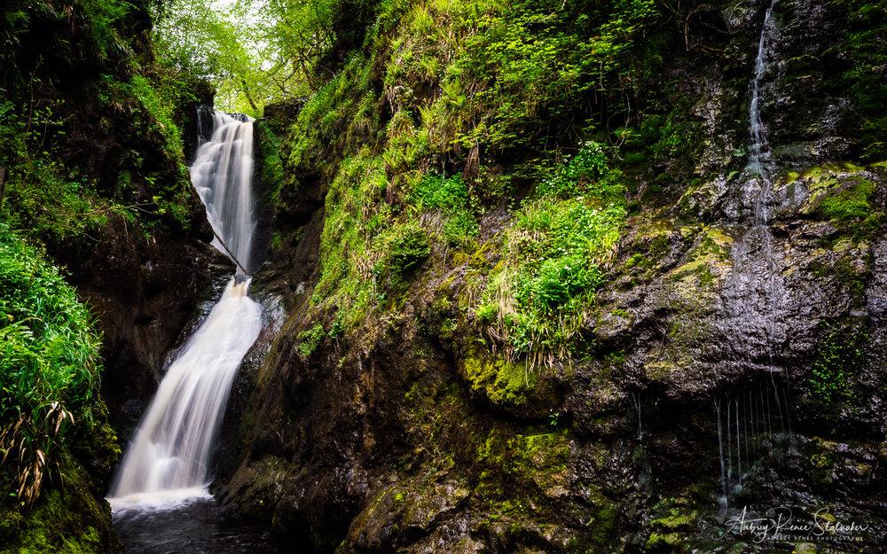 Waterfall in Glenariff Forest Park in Northern Ireland