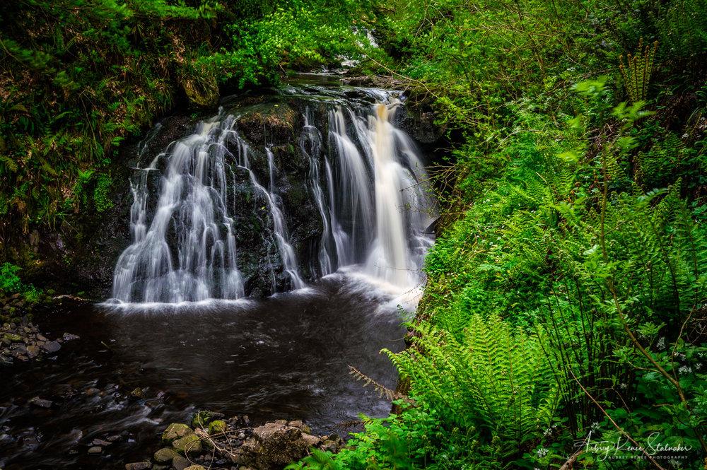 Waterfall in Glenariff Forest Park, Northern Ireland