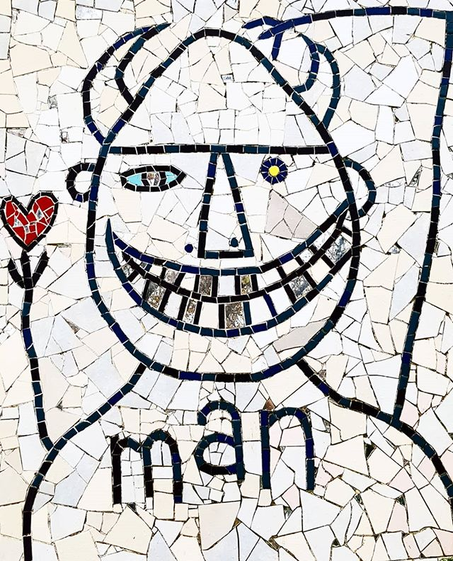 • Man O Man •  #hombre #mosaic #love #art #arte #sundayfun #artgallery #man #freemantle #perth  #insta #instapic #instalove