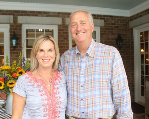 Last year's Summer Supper was held at the lovely home of Melanie and Barry Shipp.