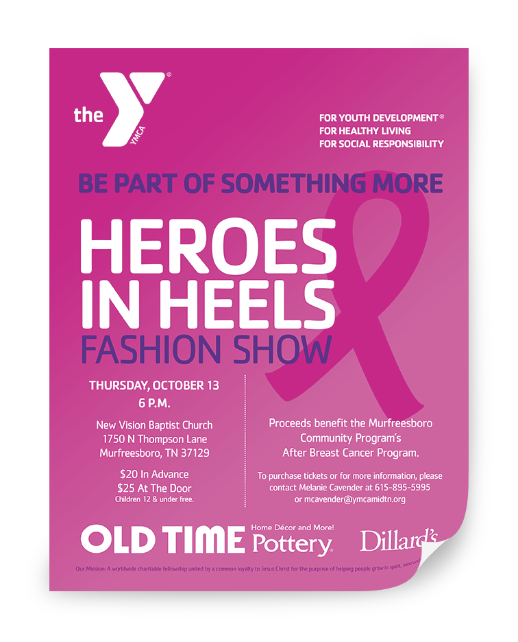 To purchase tickets or for more information, please contact Melanie Cavender at 615-895-5995 or mcavender@ymcamidtn.org.