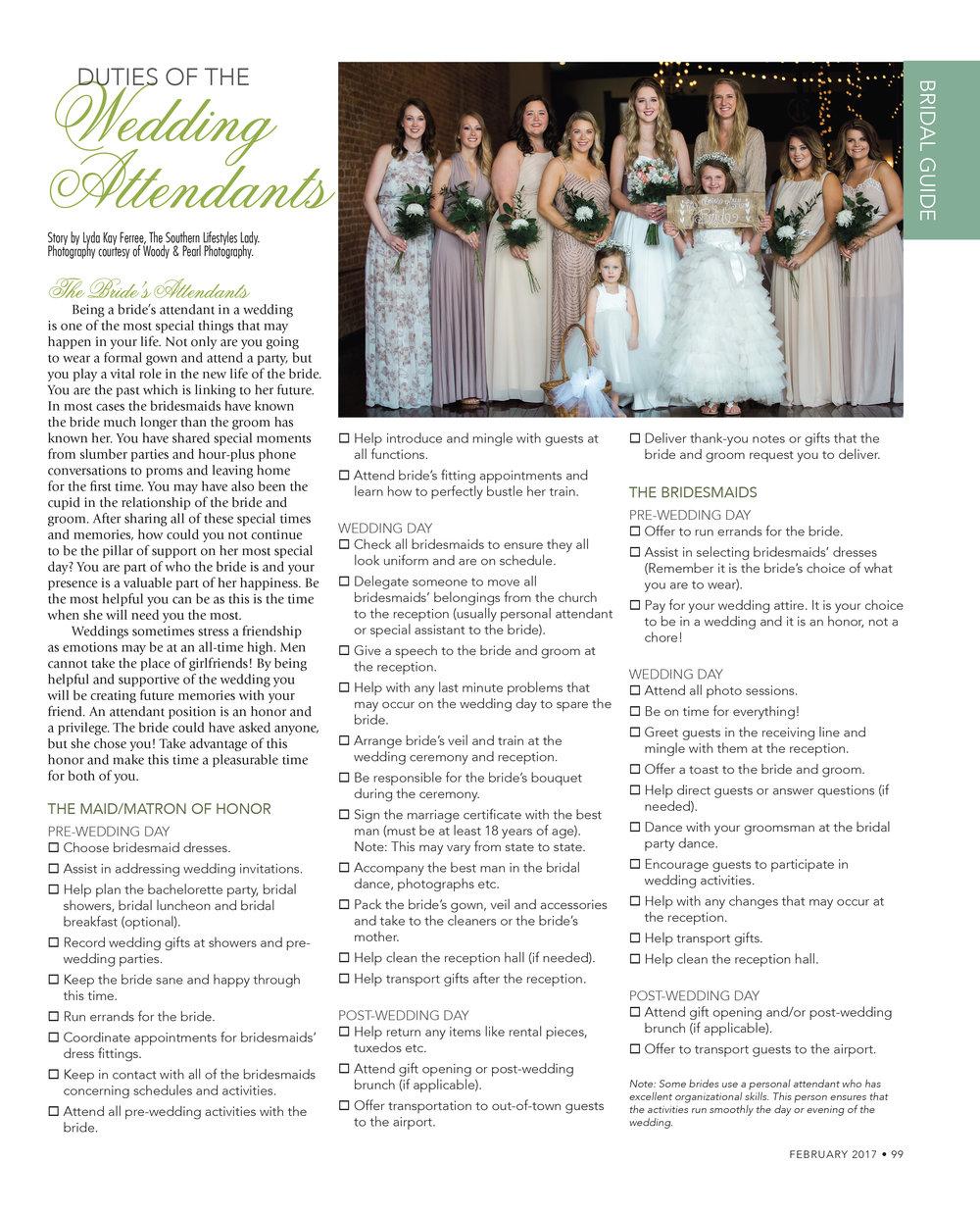 Download printable Wedding Attendants' Checklist here!