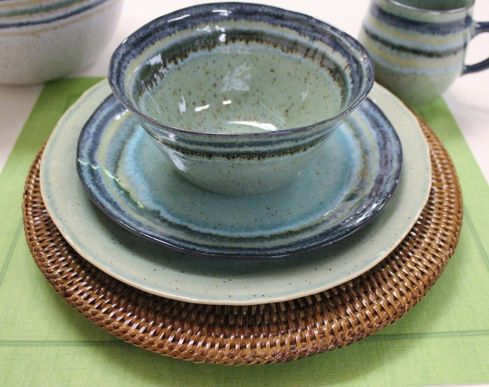 Set your table with Sausalito by CASAFINA. European styling with the durability that Portuguese stoneware can provide.  Freezer, oven, microwave and dishwasher safe. Just one of the many styles available at The Write Impression. WRITE IMPRESSION www.papersandgifts.com