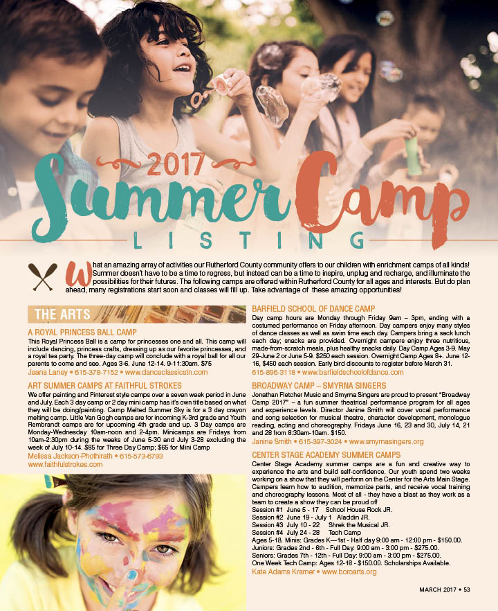 Click to download the 2017 VIP Summer Camp Listing