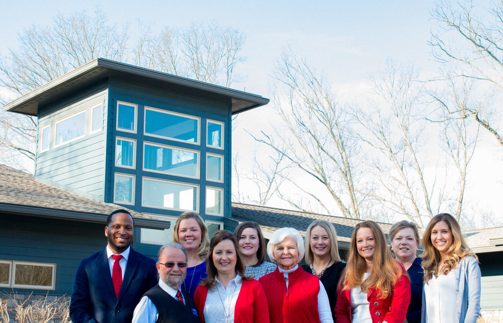 Red, White and Bayou committee members include: Bobby Smith, James Calder, Caroline Howell, Carrie Beth Catron, Ashley Stearns, Hanna Witherspoon, Amy Painter, Terry Schneider, Lori Sain Smith and Claire Oliver.  Not pictured: Scott Kimberly, Pete Adams, Liz Rhea and Vicki Eastham.