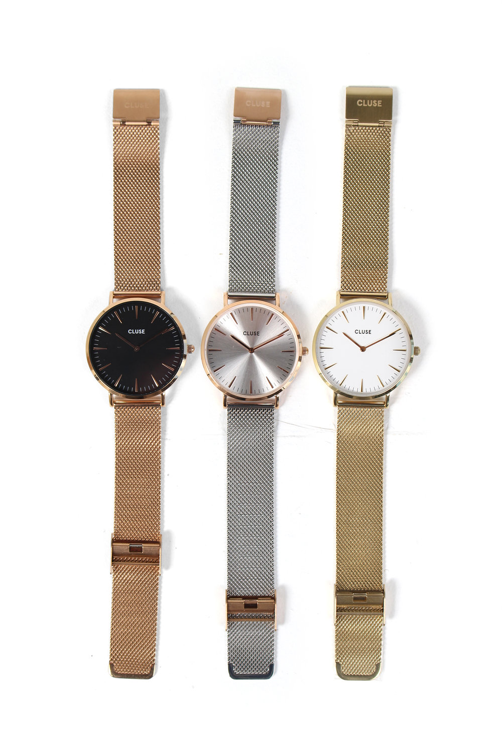 Timepieces that aspire to be part of people who are conscious about their style. A CLUSE watch brings the best out of your look and completes your outfit. CLUSE is there not only to indicate time, but to define your best moments and captivate attention in all simplicity, found at e.Allen. $68-$132