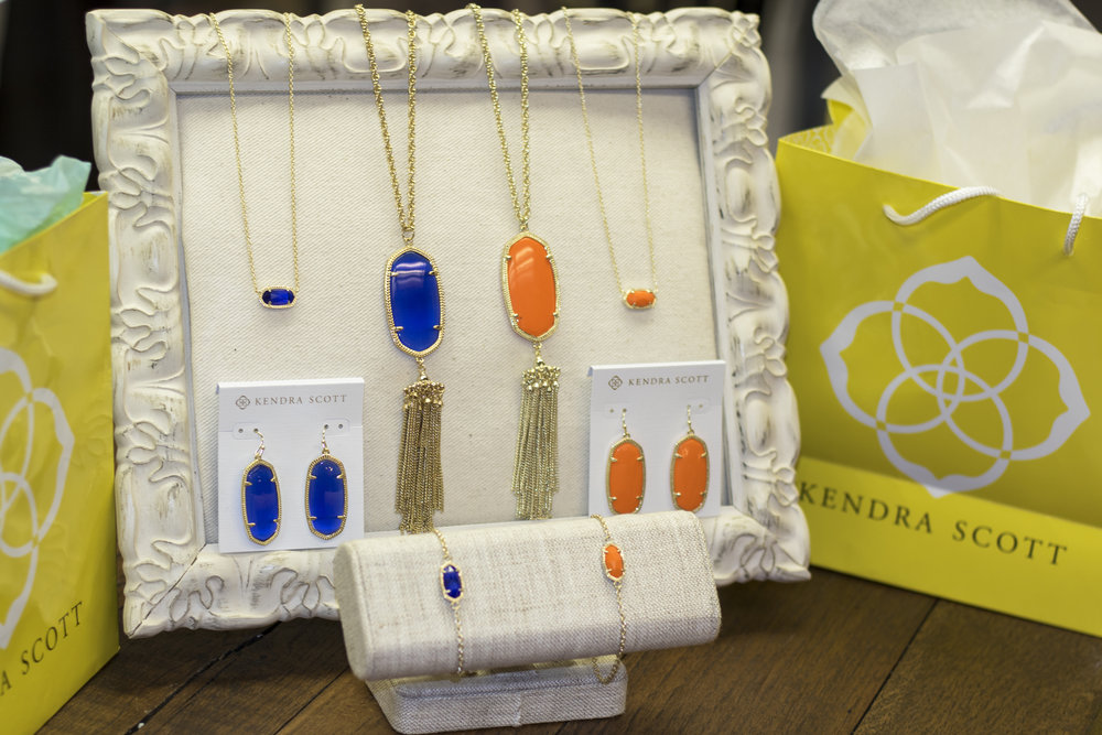 Kendra Scott Jewelry for Game Days at MTSU and UT, exclusively sold in Murfreesboro at Penny 's Closet!