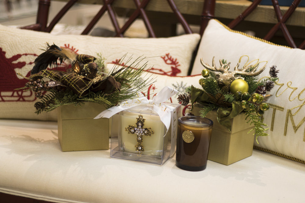 Lux Holiday Candles are lovely fragrances, perfect for a hostess gift or that someone who has everything. And with their beautiful packaging, there is no need to worry about wrapping. In a variety of scents and styles, you will find something for everyone.  Peddler Interiors and Gifts 1756 W Northfield Blvd