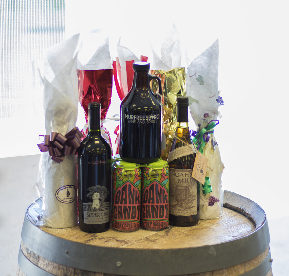 There's no greater gift than a fine wine or liquor! Spread the Holiday Cheerwith a specialty purchse at Murfreesboro Wine and Spirits. It's sure to be one of their favorite gifts!  Murfreesboro Wine and Spirits 3016 South Church Street
