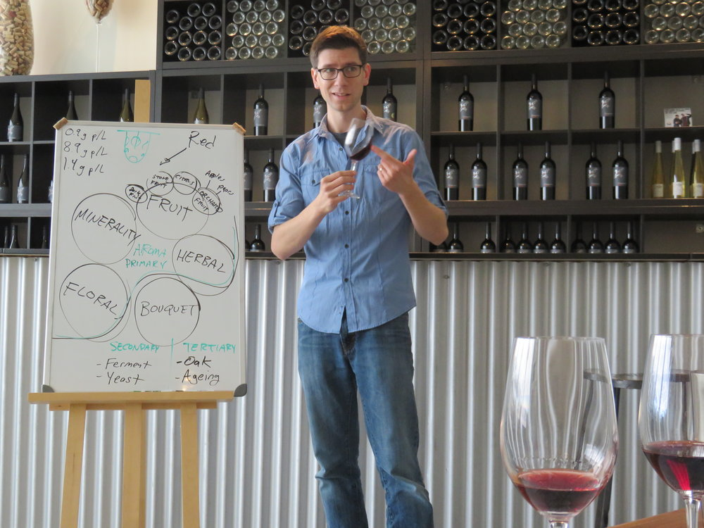 """A very informative blind tasting in a welcoming atmosphere... Moss is an enthusiastic teacher and passionate about wine... A fun and vinteresting morning."""
